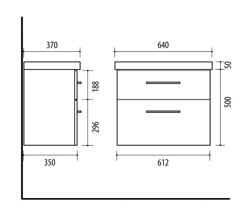 Izlietnes skapis Riva Cabinet With Sink SA63-8A Grey