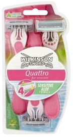 Wilkinson Sword Quattro Beauty Sensitive Disposable Razors 3pcs