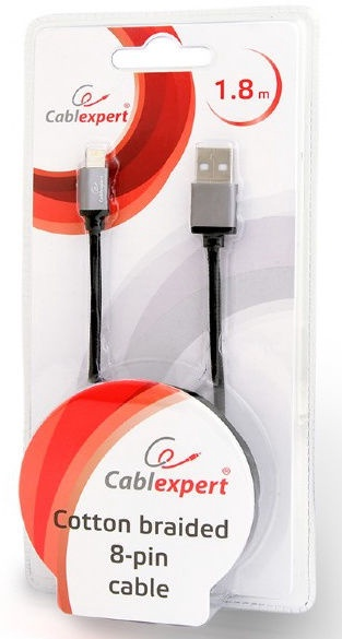 Cablexpert USB to 8-pin CCB-mUSB2B-AMLM-6 Black