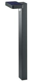 Trio Esquel antracīta pole / LED gaismeklis 60 cm augsts, IP44, 4.5W, 290lm, 3000K ar saules baterijām un kustības sensoru
