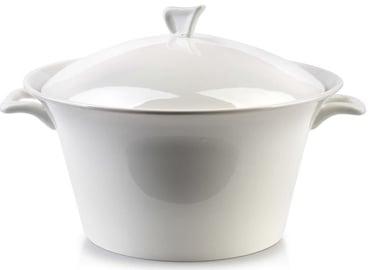 Mondex Basic Porcelain Vase With Lid White 2.2l