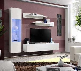 Dzīvojamās istabas mēbeļu komplekts ASM Fly G Horizontal Glass White/White Gloss