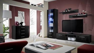 Dzīvojamās istabas mēbeļu komplekts ASM Galino B Black/Black Gloss