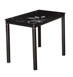 Pusdienu galds Signal Meble Modern Damar, melna, 1000x600x750mm
