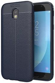 Hurtel Litchi Pattern Back Case For Samsung Galaxy J3 J330 Blue