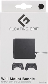 Citi piederumi Floating Grip PS4 Slim Wall Mount + 2 Controller Wall Mounts Black