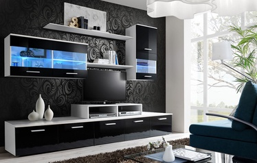 ASM Logo II Living Room Wall Unit Set LED White/Black
