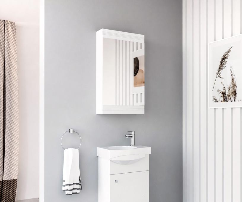 Skapis Riva White SV40 Bathroom Wall Cabinet White