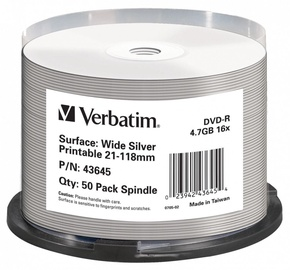 Verbatim Plate DVD 4.7GB 50pcs 43645