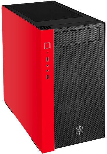Silverstone Redline RL08 RGB Mini-Tower mATX Red