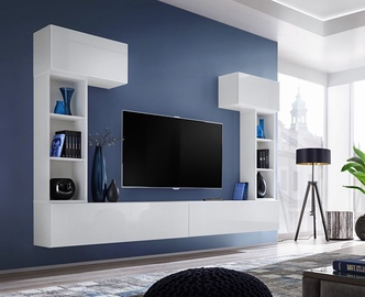 ASM Blox II Living Room Wall Unit Set White