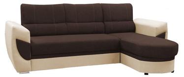 Stūra dīvāns Idzczak Meble Bahama 08 Brown/Soft 33 Beige, 250 x 170 x 97 cm