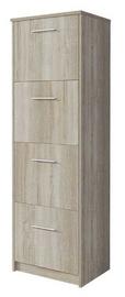 Шкаф для обуви Idzczak Meble 6 Sonoma Oak, 500x290x1550 мм