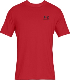Футболка Under Armour Mens Sportstyle Left Chest SS Shirt 1326799-001, красный, 2XL