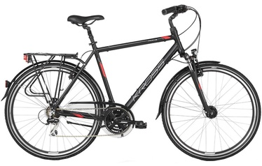 "Velosipēds Kross Trans 3.0 XL 28"" Black Red Silver Matte 18"