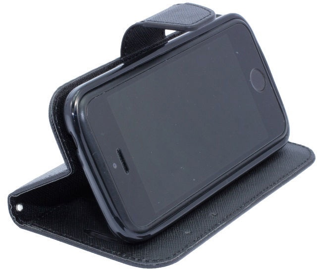 Telone Fancy Diary Bookstand Case Samsung Galaxy Alpha Black