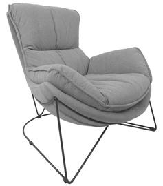 Кресло Home4you Diva 39043, черный/серый, 96 см x 88 см x 84 см