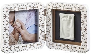 Baby Art Print Frame My Baby Touch Copper Edition White