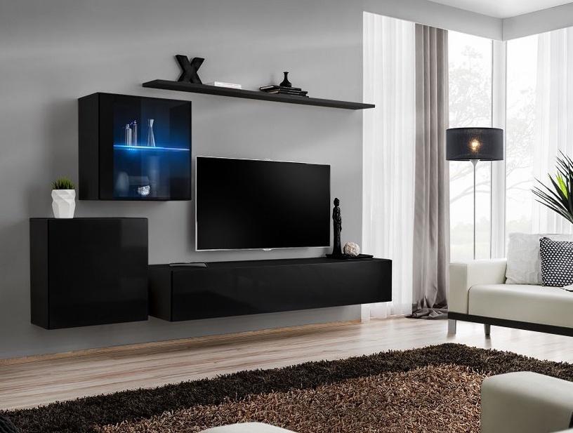 Dzīvojamās istabas mēbeļu komplekts ASM Switch XV Black