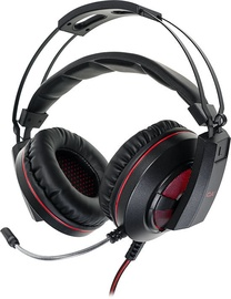 Spēļu austiņas California Access Cobra II CA-1717 Black/Red