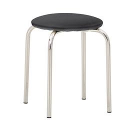 Стул для столовой Nowy Styl Chico V14, черный/серый/хромовый