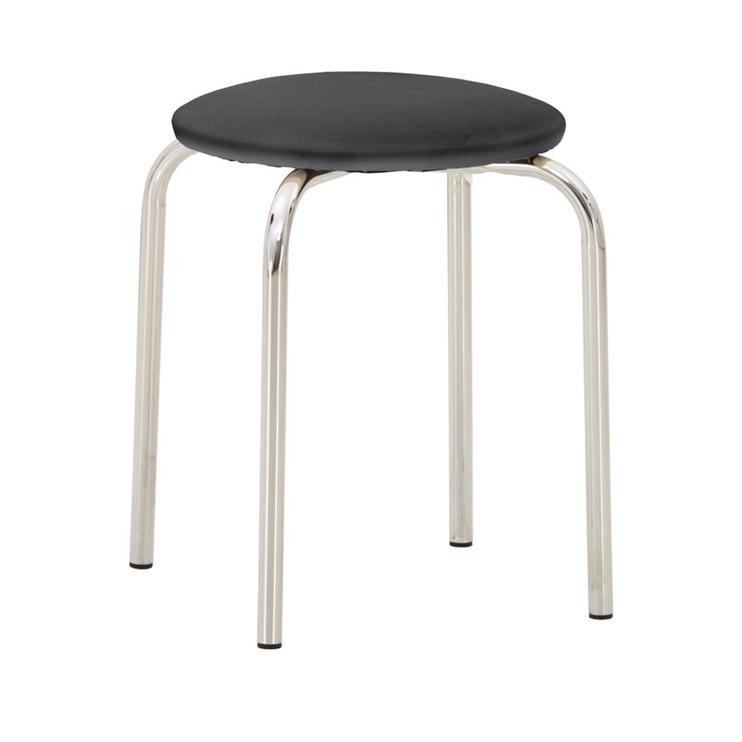 Ēdamistabas krēsls Nowy Styl Chico V14, melna/pelēka/hroma