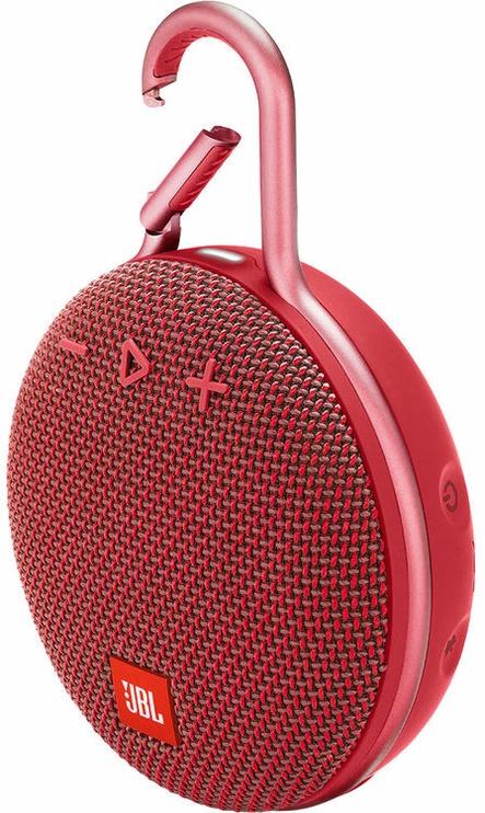 Bezvadu skaļrunis JBL Clip 3 Fiesta Red, 3 W