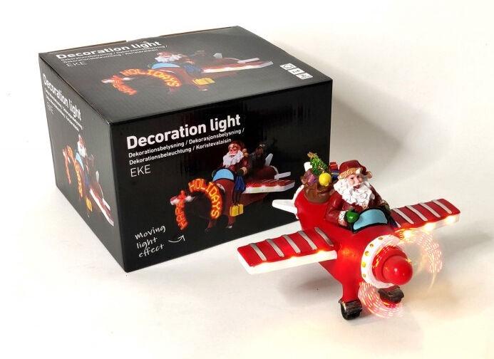 Dekorācija Niveda Eke Santa Claus Decoration LED Hologram