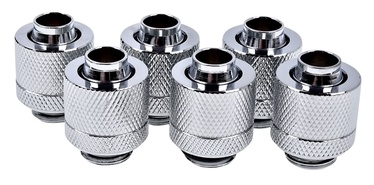 Alphacool Eiszapfen 13/10mm Compression Fitting G1/4 6-Pack Chrome
