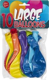 Balons Bini Balloons Mix, zila/sarkana/dzeltena/zaļa/oranža/violeta/gaiši zila, 10 gab.