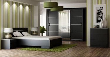 Guļamistabas mēbeļu komplekts Stolar Vista Black