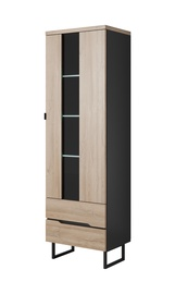 Idzczak Meble Luna 01 1D Showcase Black Matt/Grandson Oak