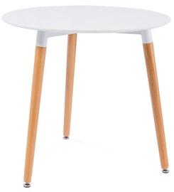 Обеденный стол Signal Meble Nolan II White, 800x800x750 мм