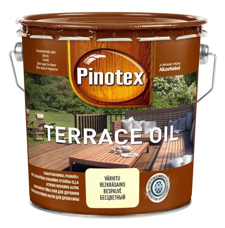 Krāsa Pinotex Terrace oil, 3l, bezkrāsaina
