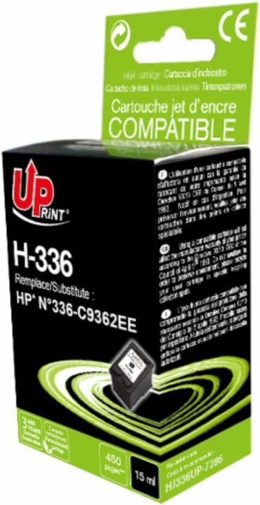 Uprint Cartridge for HP 15ml Black