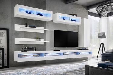 ASM Fly W Living Room Wall Unit Set White WW FY W5