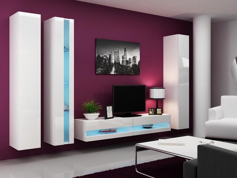 Cama Meble Vigo New Shelf Unit White/White Gloss