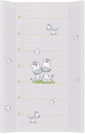 Matracis autiņu maiņai Ceba Baby Grey Zebra, 70x50 cm