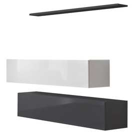 ASM Switch SB II Hanging Cabinet/Shelf Set Graphite/White