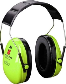 3M Peltor Optime Ear Defenders Neon Green H510AV