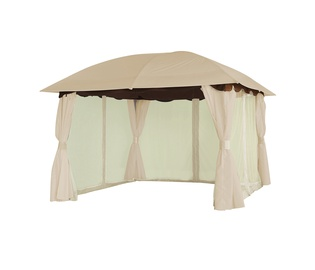 Domoletti Ruby Garden Shelter 3x3x2.7m Brown