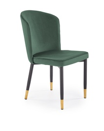 Ēdamistabas krēsls Halmar K446, tumši zaļa