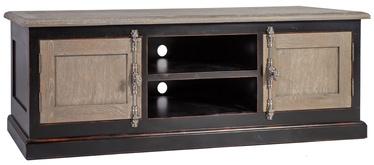 ТВ стол Home4you Watson, черный/дубовый, 1800x500x600 мм
