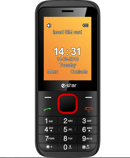 Mobilais telefons eStar X24 X24, sarkana/32MB
