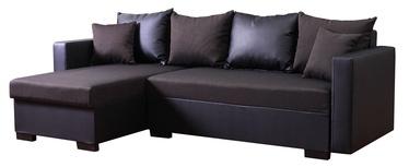 Stūra dīvāns Platan Karol 05 Brown, 230 x 140 x 80 cm