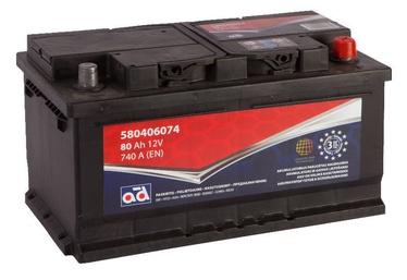 Akumulators AD BALTIC 580406074, 12 V, 80 Ah, 740 A