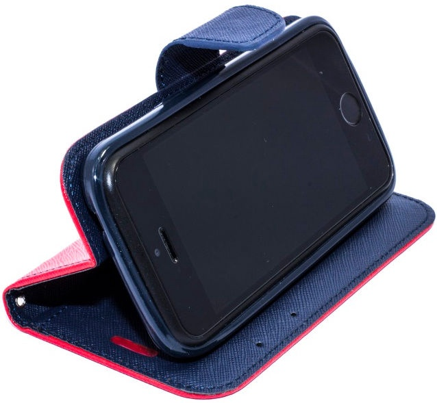 Telone Fancy Diary Bookstand Case For LG K10 Red/Blue
