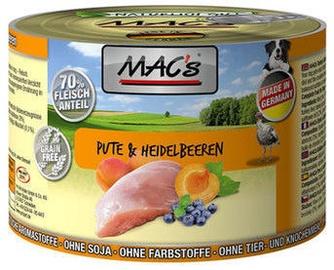 Mac's Dog Turkey & Blueberries 200g