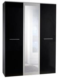 Skapis ASM Big White/Black, 135x55x190 cm, with mirror