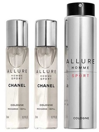 Chanel Allure Homme Sport 3x20ml EDC Refillable Travel Spray